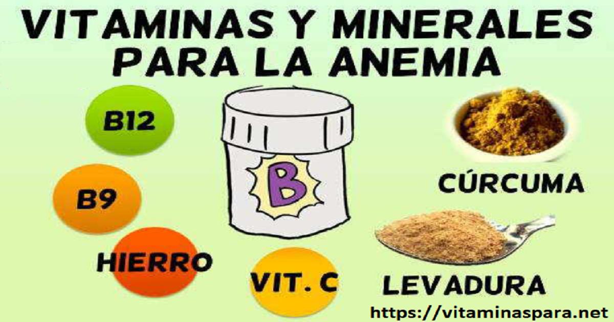 Vitaminas Para Combatir la Anemia