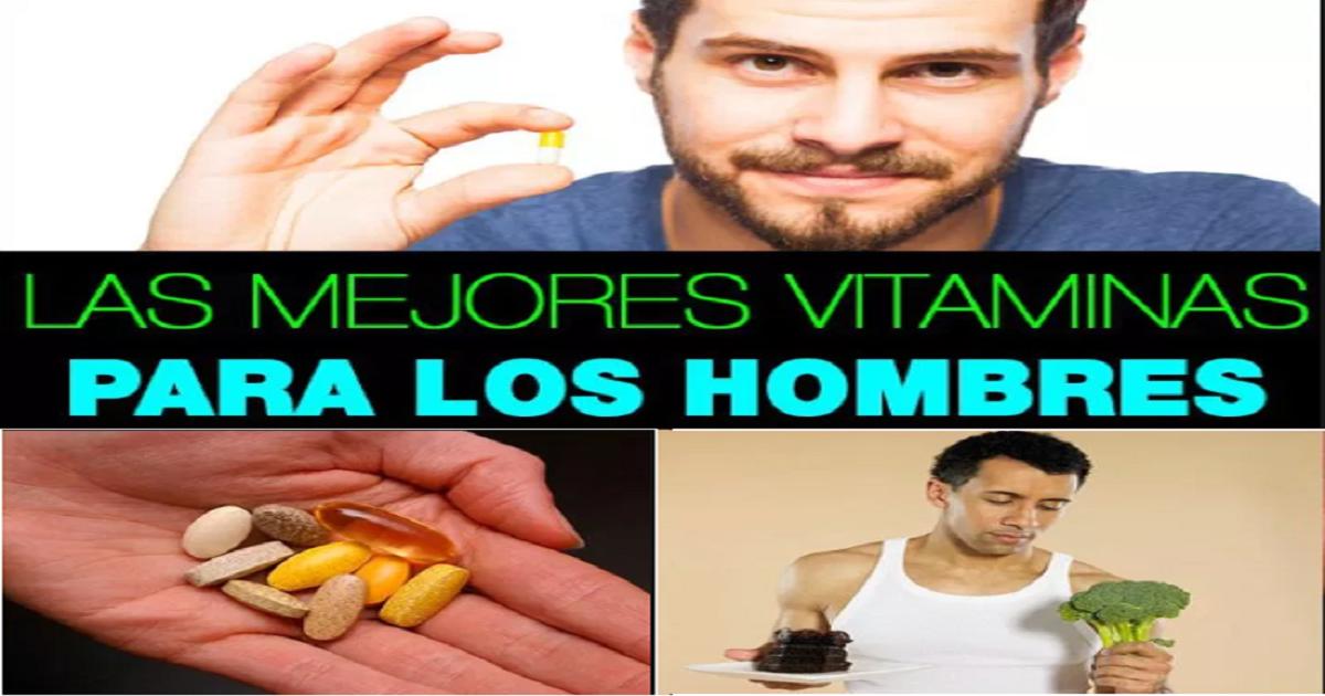 vitaminas para hombres jóvenes